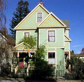 Victorian Home at 210 Mission Street in Santa Cruz, California