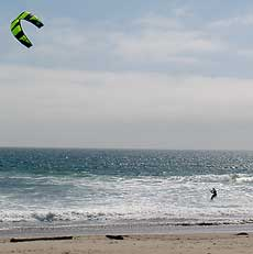 Kite surfing at Waddell Creek